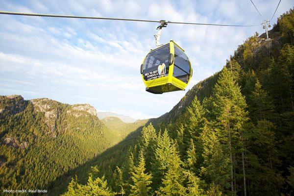 Gondola ride in Squamish BC
