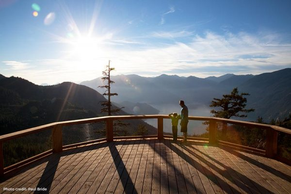 Lookout at Sea-to-sky Gondola in Squamish BC