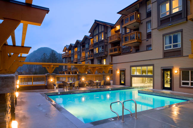 Heated Outdoor Pool at Executive Suites Hotel Squamish