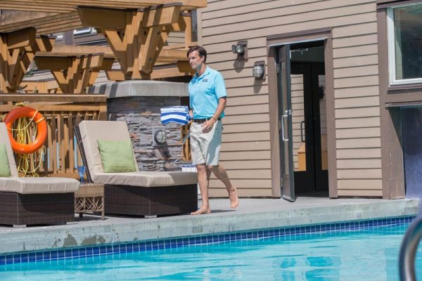 Outdoor pool at Executive Suites Squamish Hotel